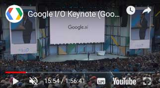 YouTube Keynote Google AI